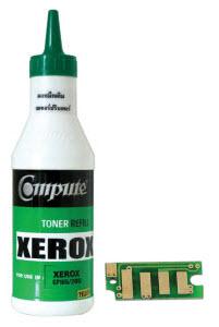 ชุดผงหมึกพร้อมชิป (Refill Toner) For Fuji Xerox P355d Bk