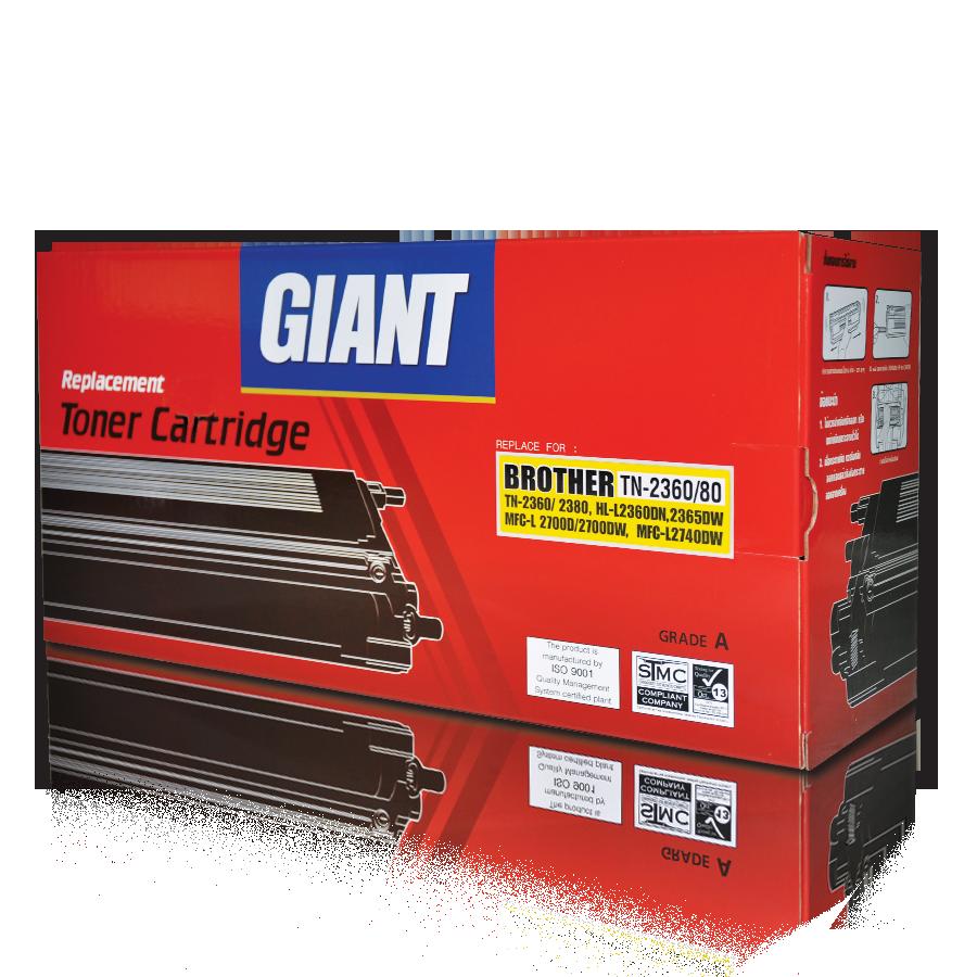 ตลับหมึกเลเซอร์ Giant BROTHER TN-2360/2380 (Toner Cartridge)