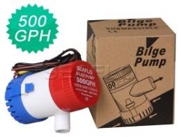 โซล่าปั๊ม (Solar Pump) ยี่ห้อ Bilge ขนาด 500GPH 12V