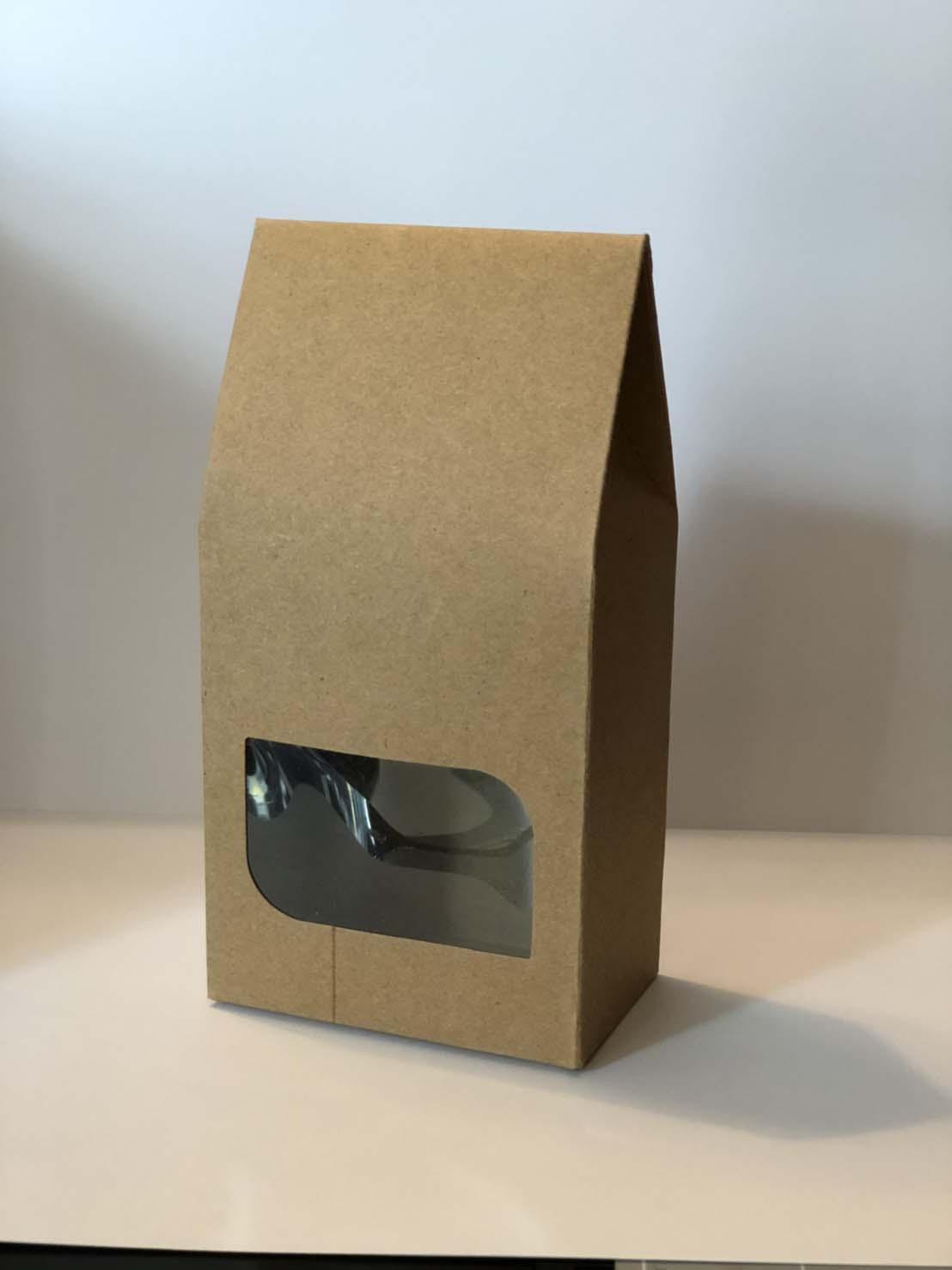 ถุงกระดาษคราฟโชว์หน้ารูปสี่เหลี่ยม ขนาด 5*8*9.5 cm. 50 ชิ้น