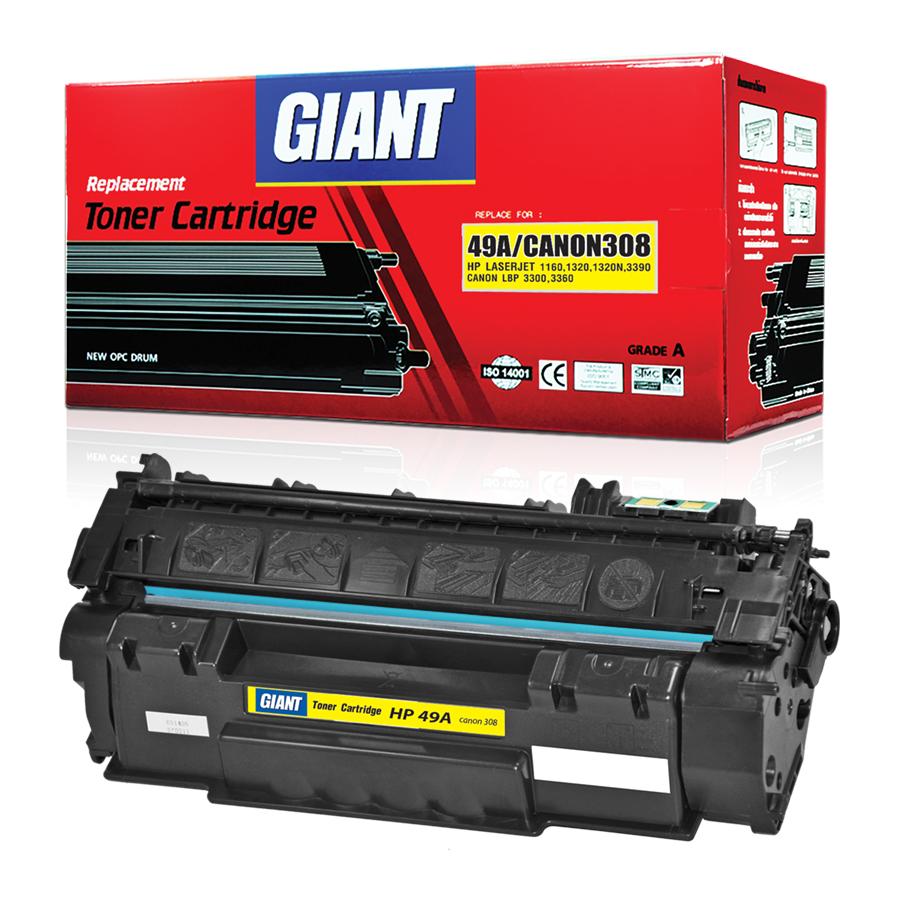 GIANT ตลับหมึกเลเซอร์ดำ HP รุ่น Q5949A/Q7553A (49/53A)