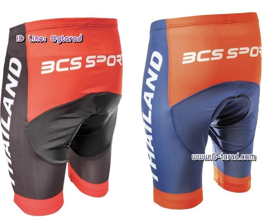BCS กางเกงจักรยาน พิมพ์ลาย ขาสั้น