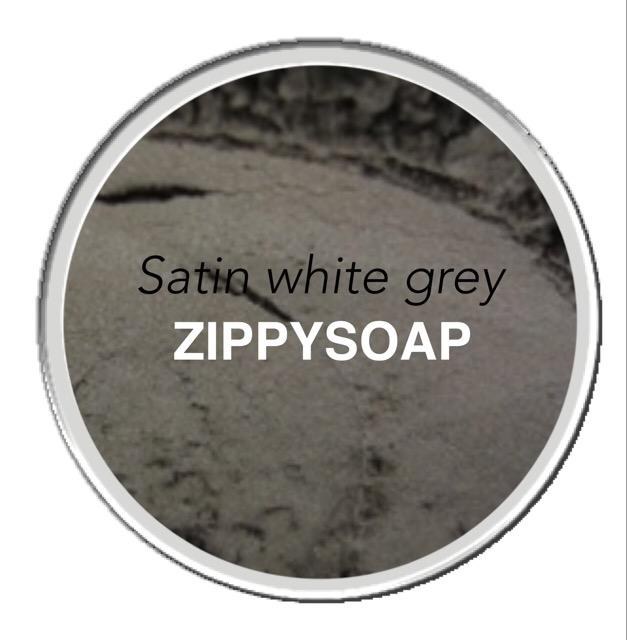 mica สีเทา Satin White Grey 30g