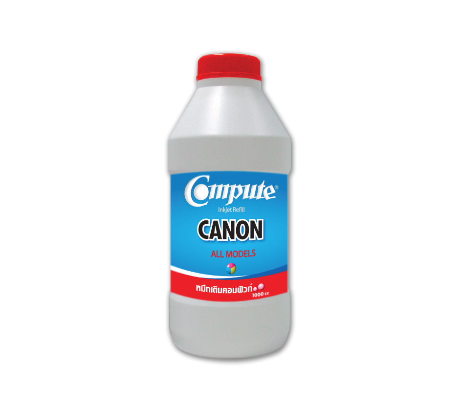 น้ำหมึกเติม (Refill Inkjet) คอมพิวท์ For CANON All model Magenta 1000CC