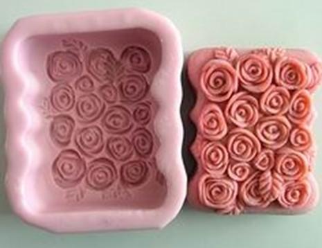 แม่พิมพ์สบู่ซิลิโคน รูปดอกกุหลาบ 115g