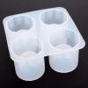 แม่พิมพ์น้ำแข็ง รูปแก้ว ขนาดช่อง 5.5*3.7*6 cm