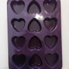 แม่พิมพ์ รูปหัวใจ 12 ช่อง 40g