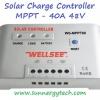 ตัวควบคุมการชาร์จแบตเตอรี่ แบบ MPPT ขนาด 10A 12/24V (WLS)