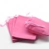 ถุงกำมะหยี่ สีชมพู ขนาด 8x10 cm. 50 ชิ้น