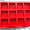 *แม่พิมพ์ซิลิโคน รูปสี่เหลี่ยม 12 ช่อง 4.5x4.5x1.2 cm