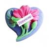 แม่พิมพ์ รูปหัวใจ ดอกไม้ 85g