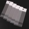 ถุงพลาสติกแถบขาวมีรูแขวนแบบมีเทปกาว 12x18 cm. 100 ชิ้น