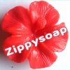 แม่พิมพ์ซิลิโคน รูปดอกชบา 1 ช่อง 65 g