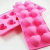 แม่พิมพ์ซิลิโคน หัวใจ 12 ช่อง 3*2.7*2.5cm