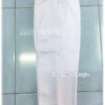 กางเกงวอล์มขายาว ขาปล่อย สีขาว