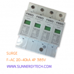 Surge แบบ SPD AC ขนาด 20-40kA 385V 4P (FEO)