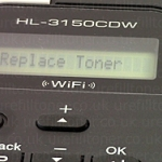 Replace Toner