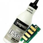 ชุดผงหมึกพร้อมชิป (Refill Toner) For EPSON C13S050613 (Cyan)