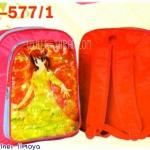 """กระเป๋านักเรียน HighSchool 14x11x4.5"""" การ์ตูน PVC สะท้อนแสง มีตาข่ายข้าง"""