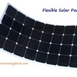 แผงโซล่าเซลล์ ชนิด Mono-Crystalline ขนาด 180W แบบโค้งงอได้ Flexible Solar Panel