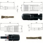 Cable & Connector (ตัวเชื่อมสายไฟ) แบบ MC4