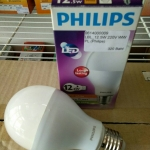 หลอดไฟ LED E27 Bulb ขนาด 12.5W 220V Warm White PL (Philips)