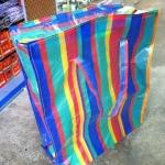 ถุงกระสอบสายรุ้ง สีรุ้ง ลายสก๊อต งานไทย