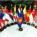 ธงชาติกลุ่มประเทศอาเซียน AEC แบบตั้งโต๊ะ