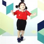 FlyHawk เสื้อกีฬาเด็ก คอปก C974