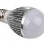 หลอดไฟ LED E27 Bulb ขนาด 3W 24V 6000K AL