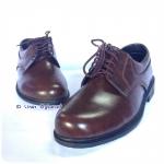 Sainte 16706 - รองเท้าหนังน้ำตาลชาย ผูกเชือก รองเท้าครูลูกเสือชาย