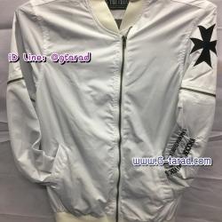 เสื้อกันหนาวผ้าร่ม สีขาว