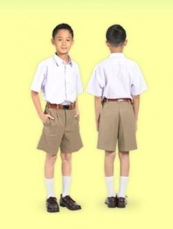 กางเกงนักเรียนตราสมอ สีกากี