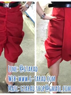 ผ้าโทเร สีแดง นุ่งโจงกระเบน