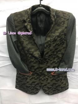 เสื้อแจ็คเก็ตสูท Fellow ลายทหาร