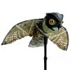 หุ่นนกฮูกจำลองบิน เคลื่อนไหวสมจริง วิธีไล่นกพิราบและนกอื่นๆ เฝ้าบ่อปลา